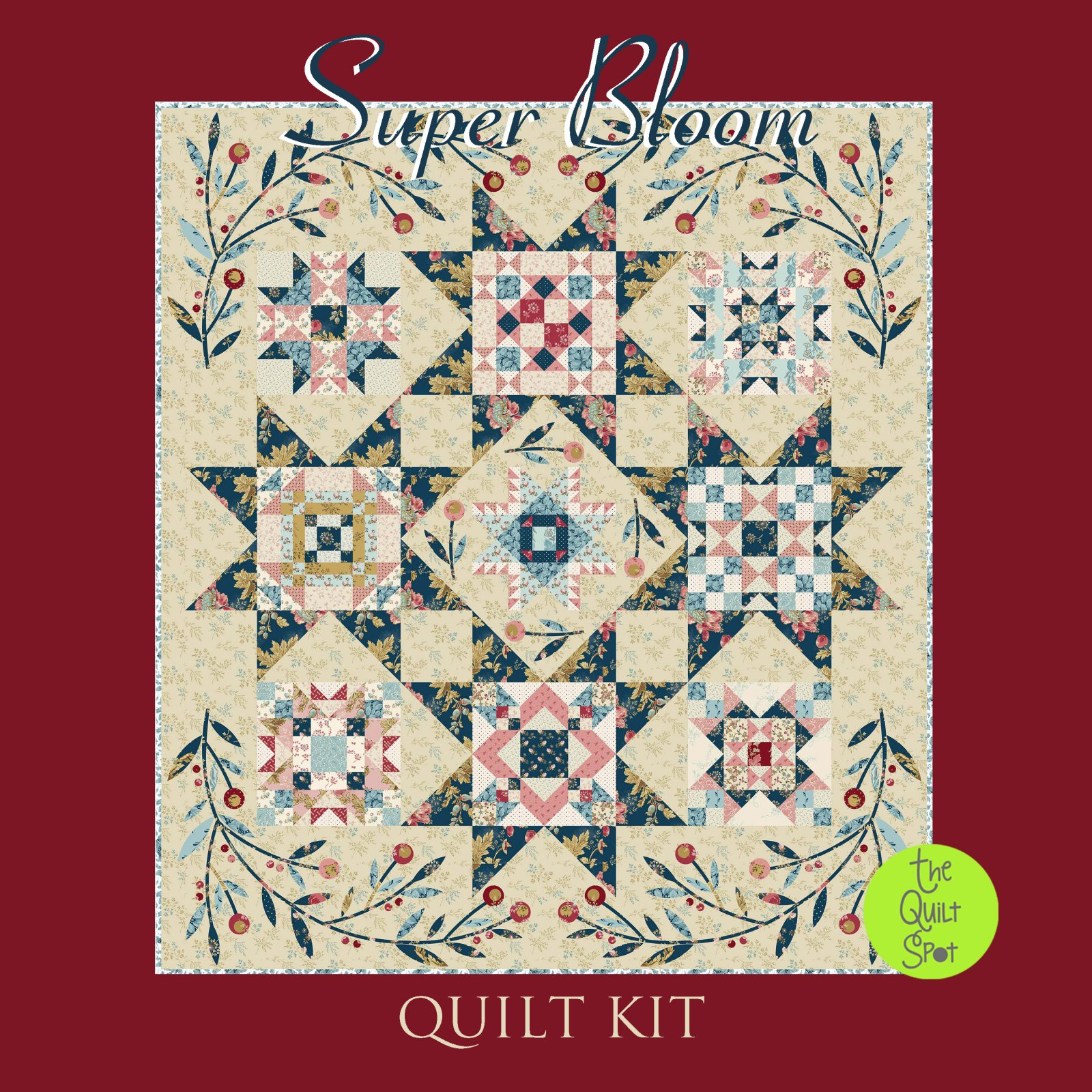 Super Bloom Quilt Kit by Laundry Basket Quilts