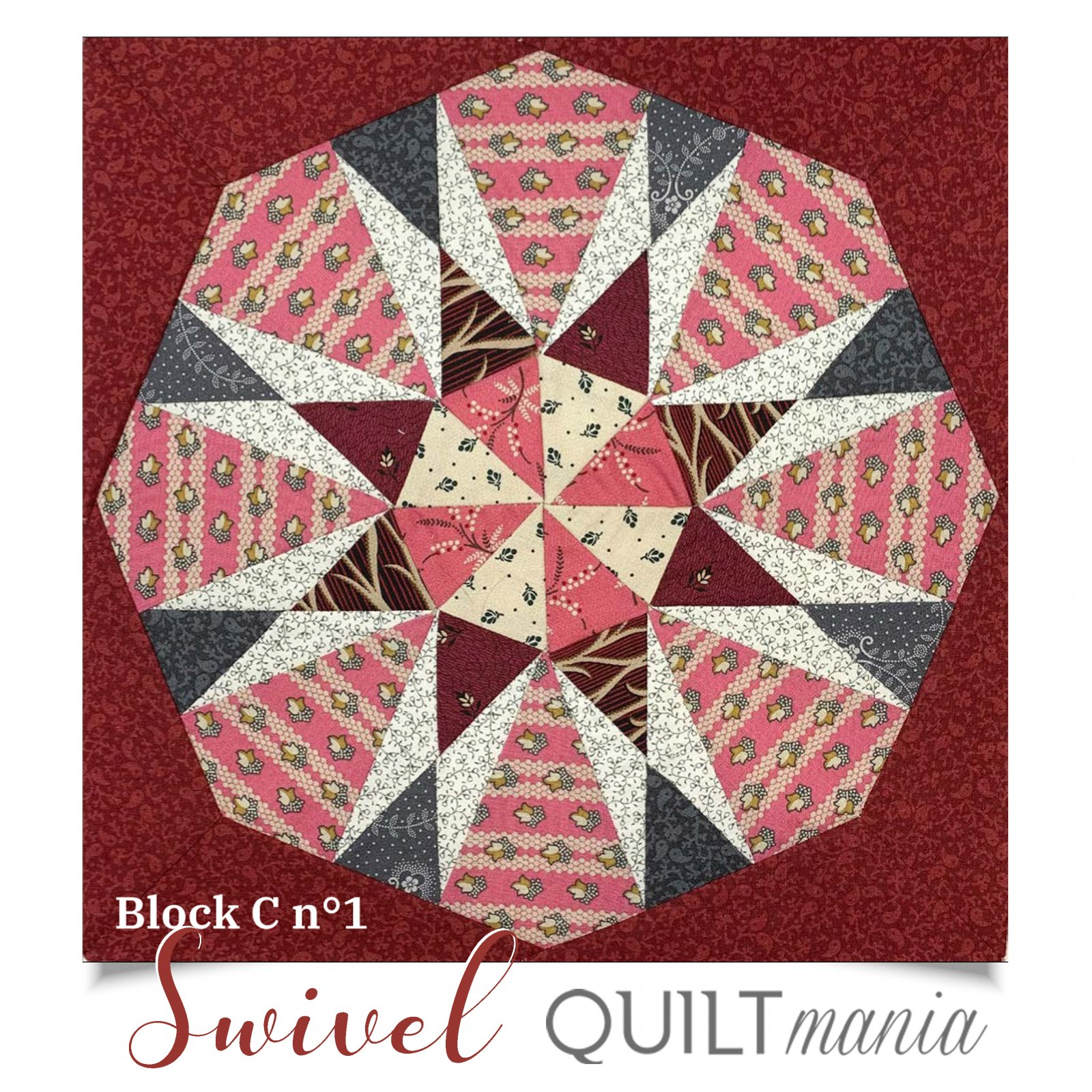 Swivel - Quilt Mania Mystery Quilt 2020 1/4 Acrylic Templates Part 3