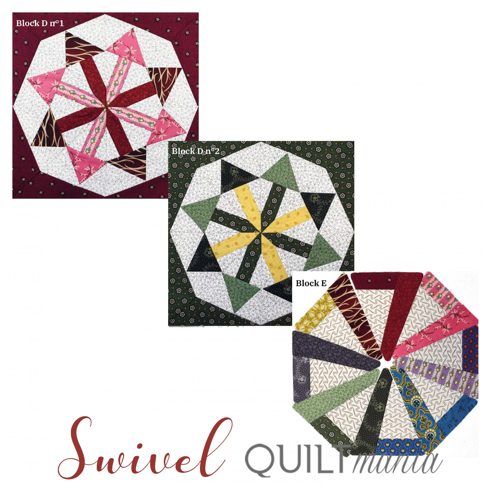 Swivel - Quilt Mania Mystery Quilt 2020 1/4 Acrylic Templates Part 4