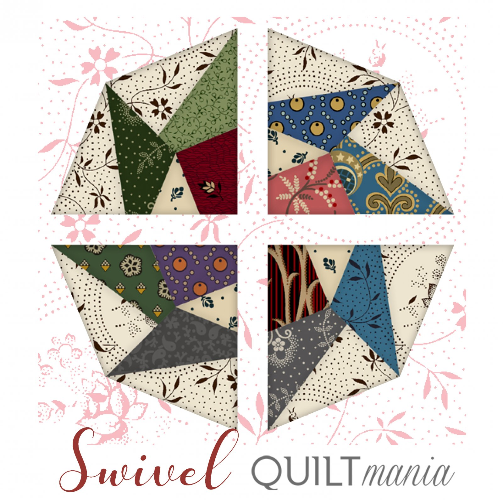 Swivel - Quilt Mania Mystery Quilt 2020 3/8 Acrylic Templates Part 5