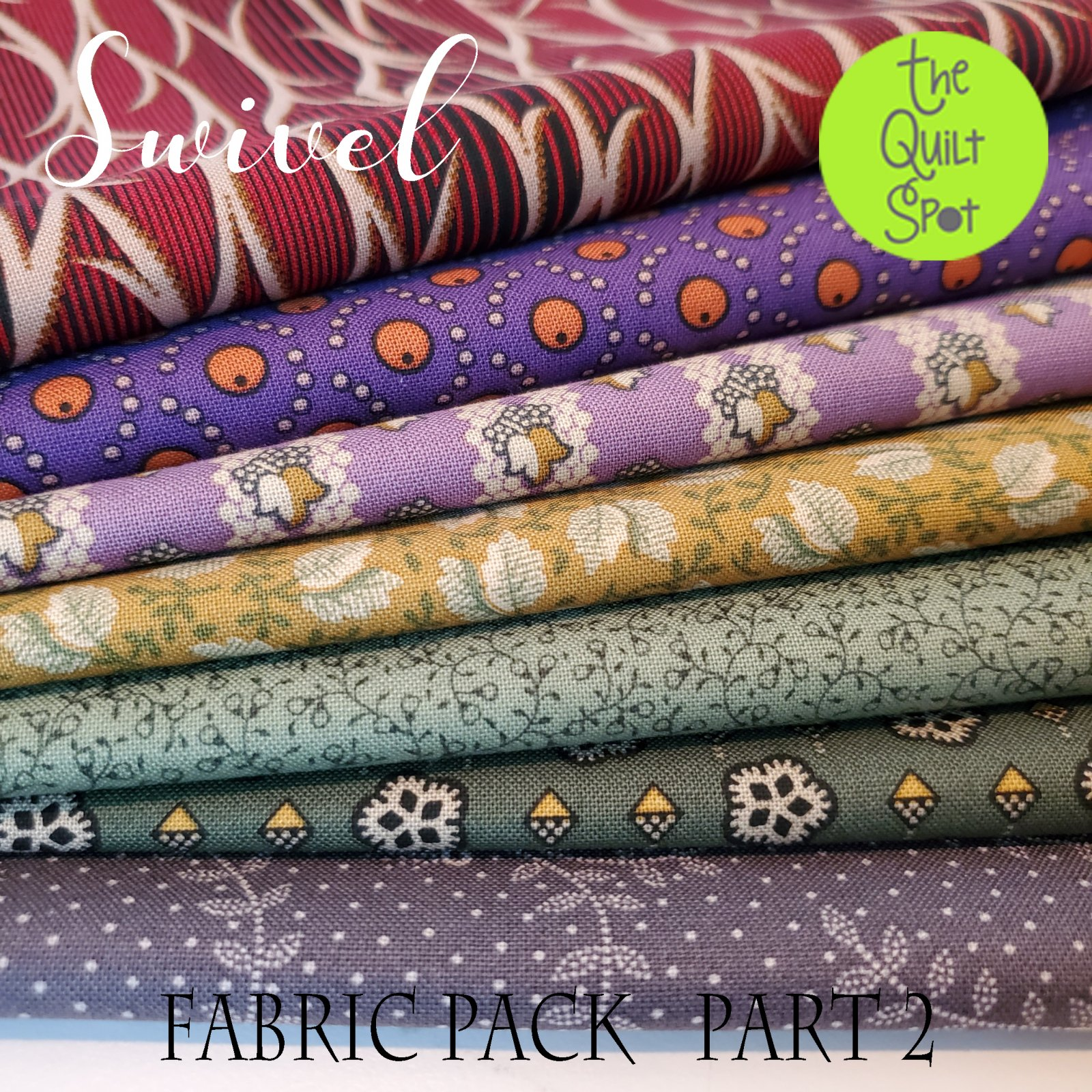 Swivel - Quilt Mania Mystery Quilt Fabric Pack - Part 2