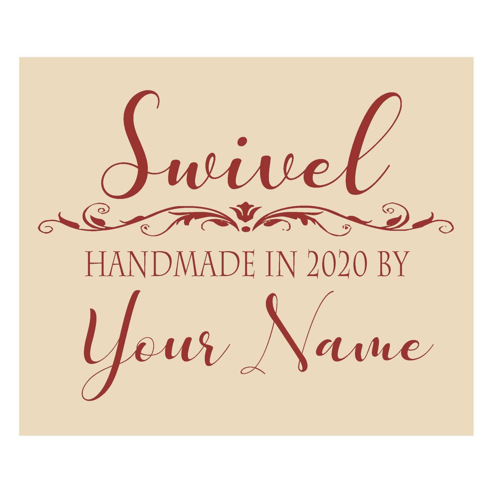 Swivel Custom Quilt Label