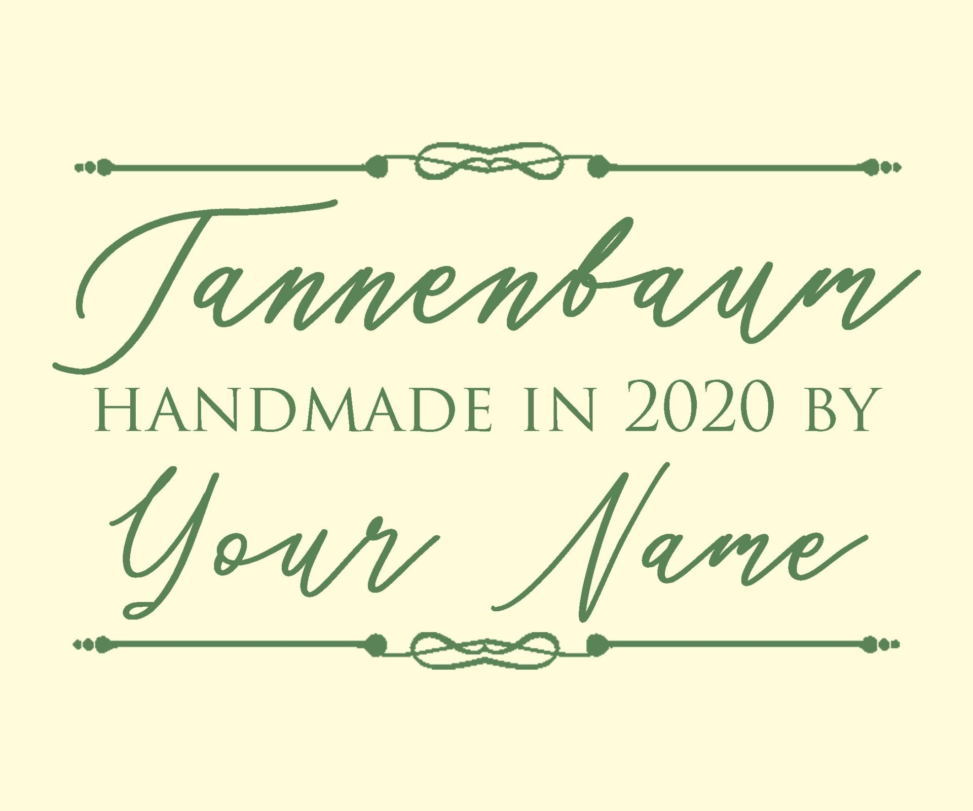 Tannenbaum BOM Custom Quilt Label