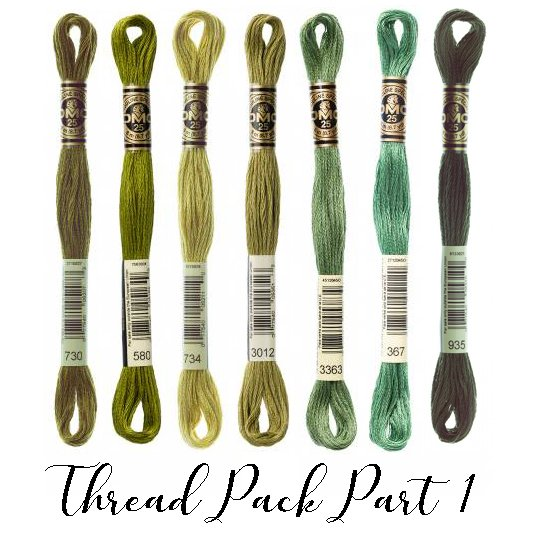 Pour Helene - Quilt Mania Mystery Quilt 2021 - Thread Pack Part 1