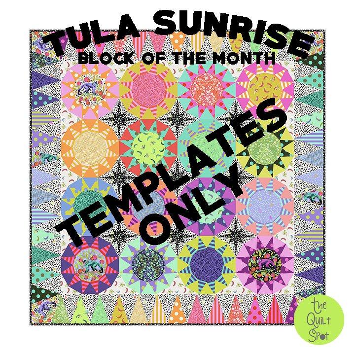 Tula Pink Tula Sunrise Templates Only