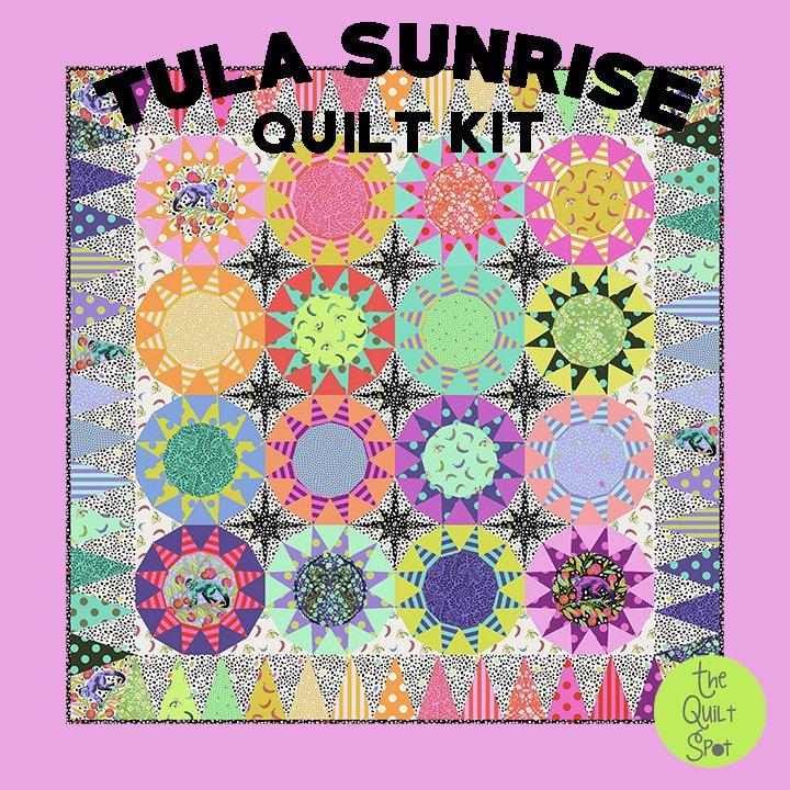 Tula Sunrise Quilt Kit featuring Tula Pink's Monkey Wrench Fabric