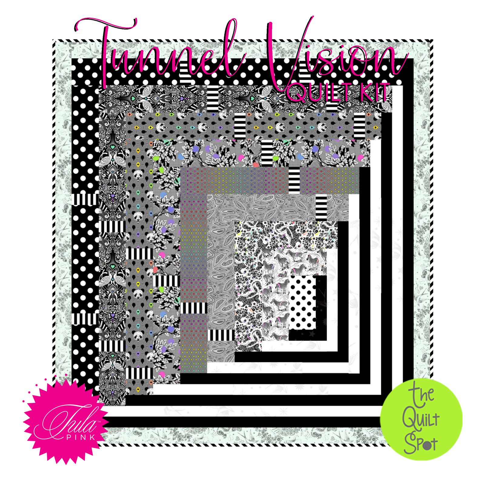 Tunnel Vision Quilt Kit featuring Tula Pink's Linework