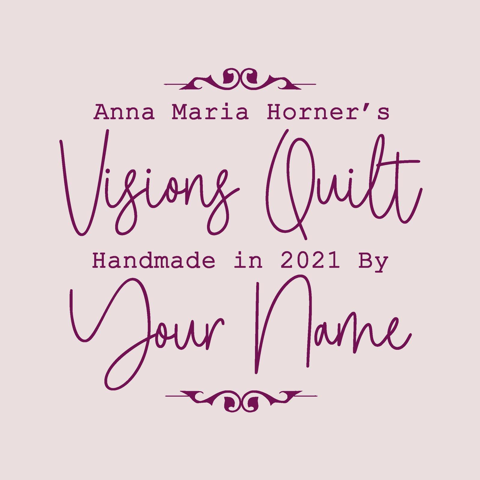 Visions Custom Quilt Label