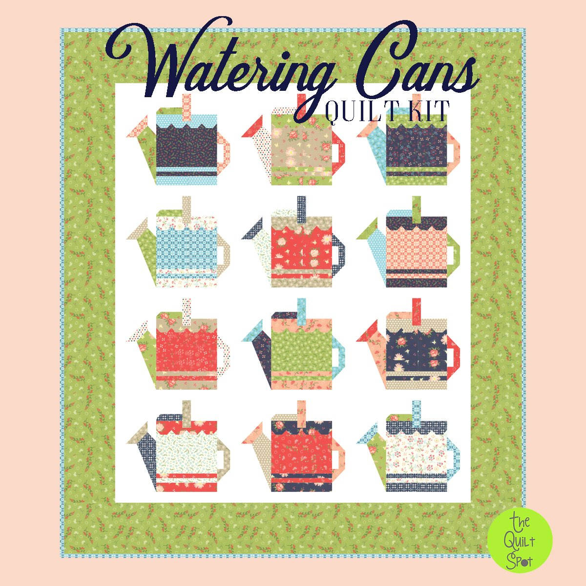 Watering Can Quilt Kit