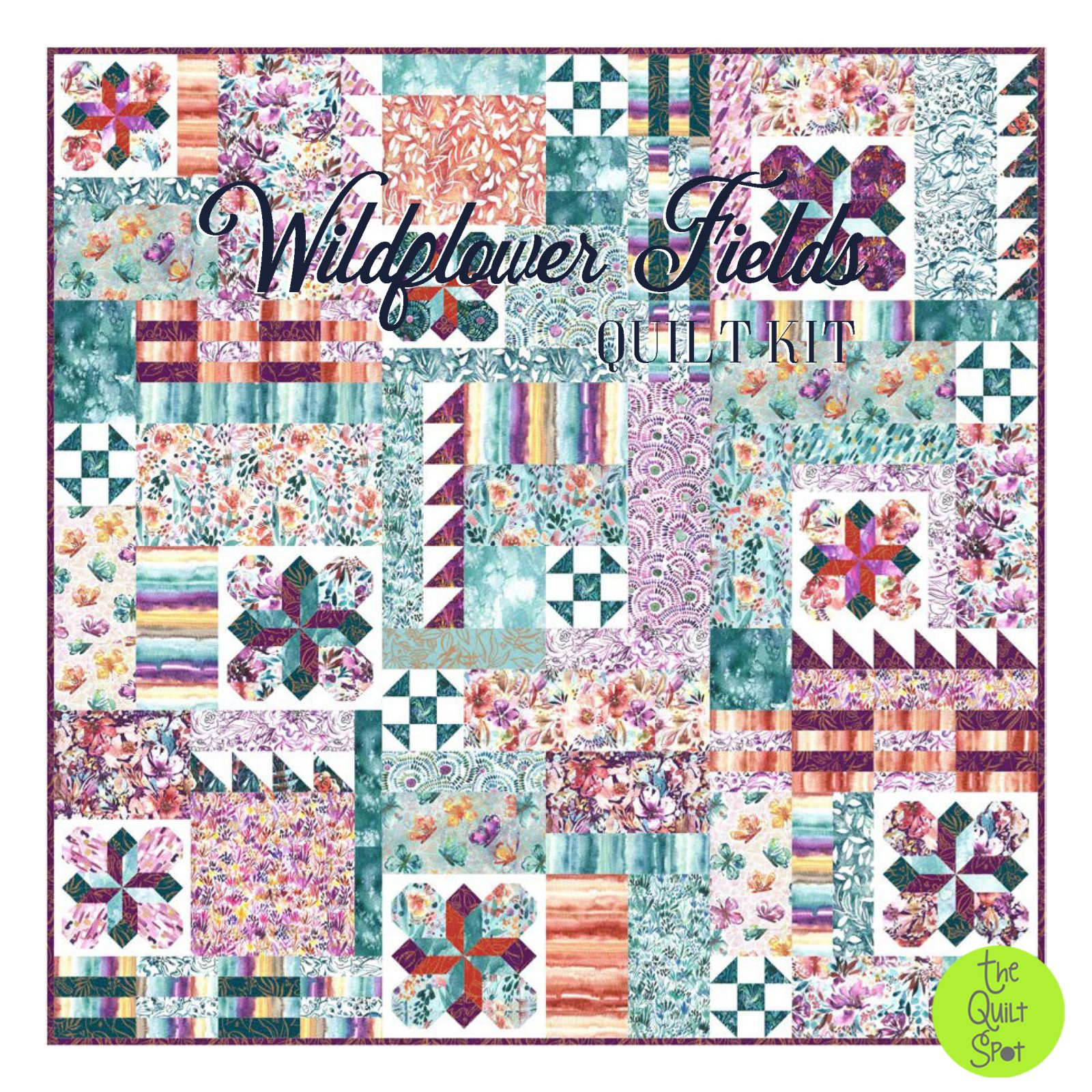 Wildflower Fields Quilt Kit featuring Sunshine Soul by Create Joy Project