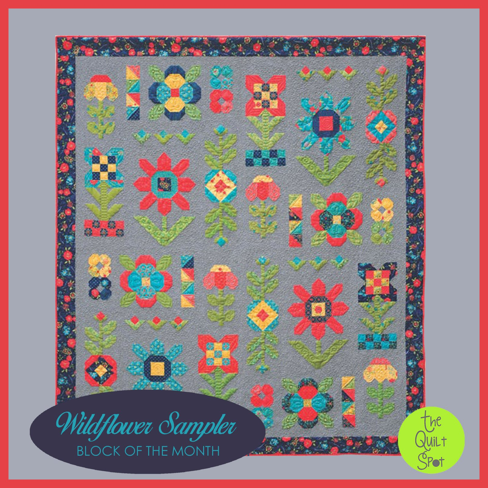 Wildflower Sampler Block of the Month by Anka's Treasures