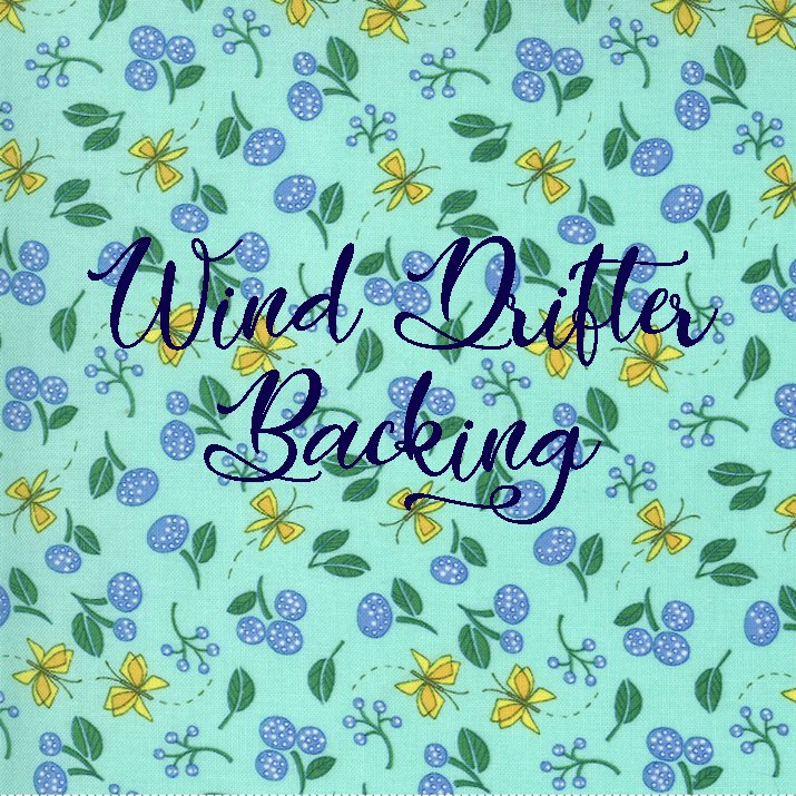 Wind Drifter Backing Set featuring Cottage Bleu by Robin Pickens