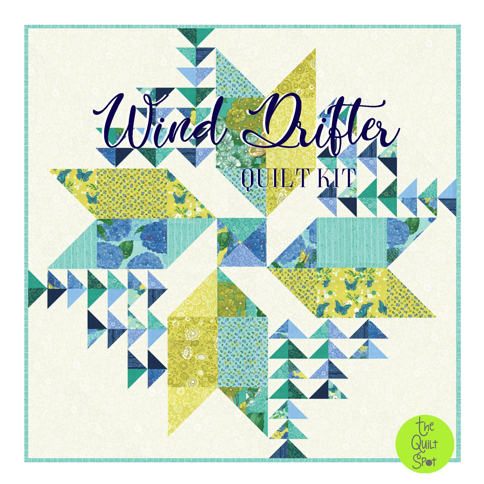 Wind Drifter Quilt Kit featuring Cottage Bleu by Robin Pickens