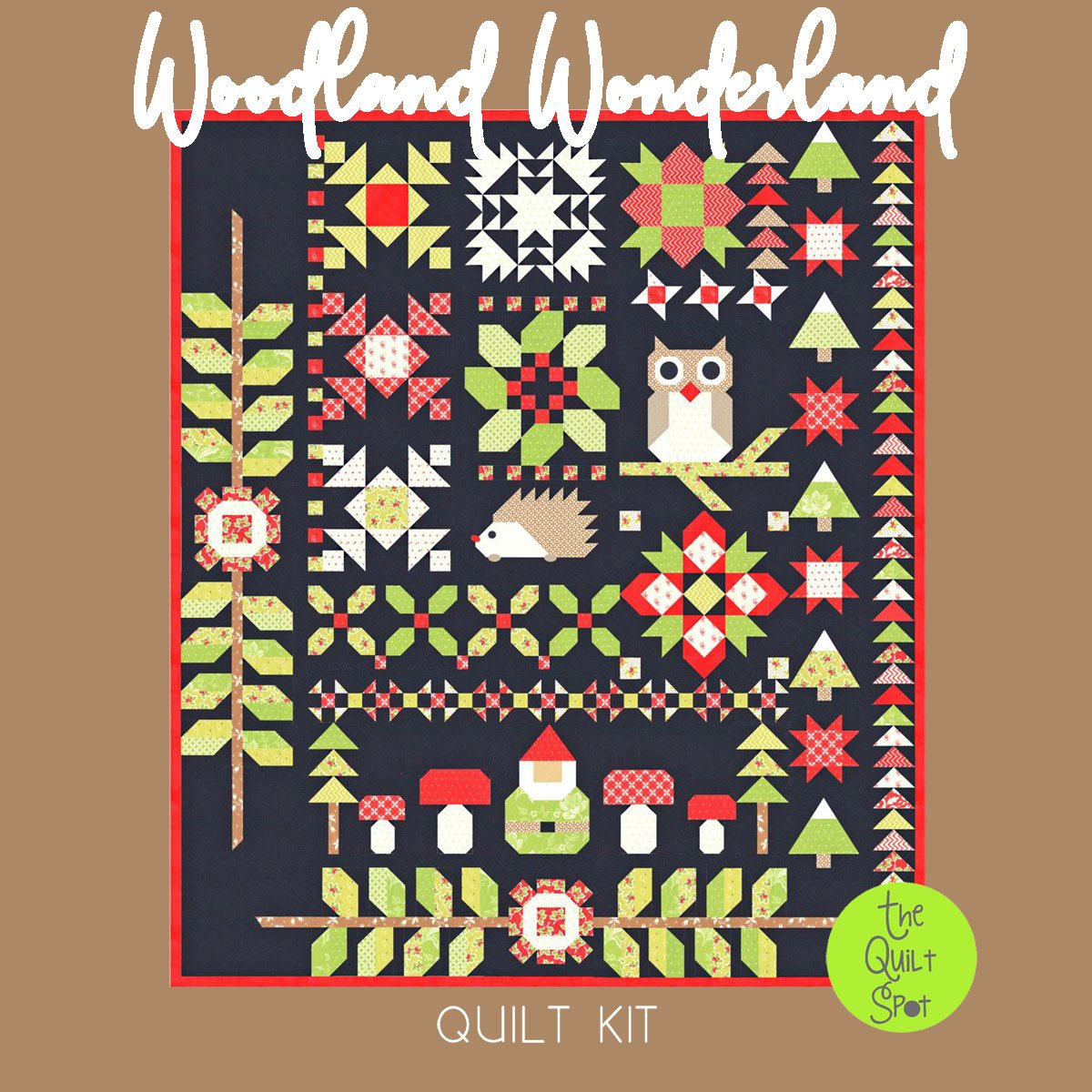 Woodland Wonderland Quilt Kit featuring Christmas Figs II by Fig Tree Quilts