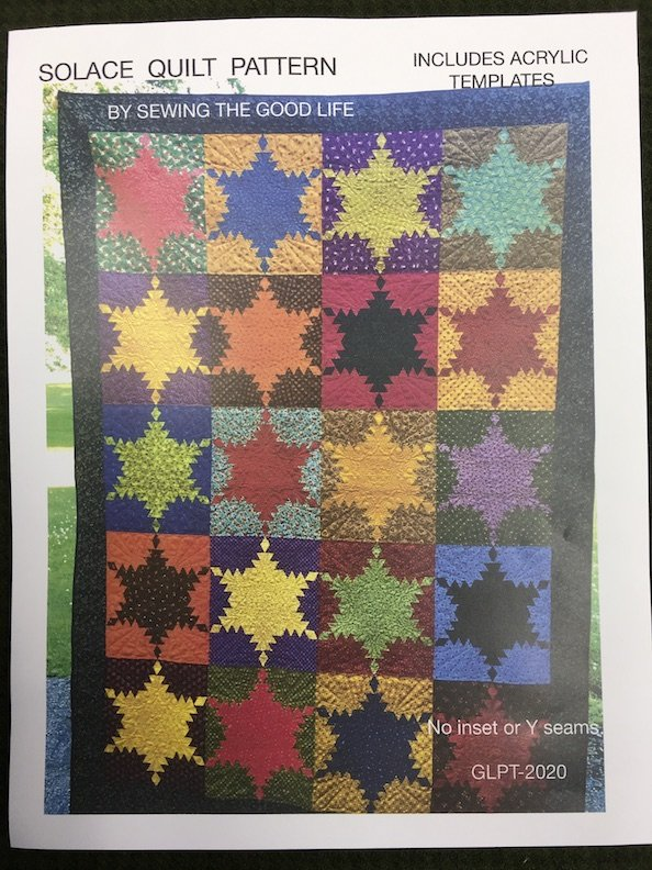 Solace Quilt Pattern with Acrylic Templates GLPT-2020