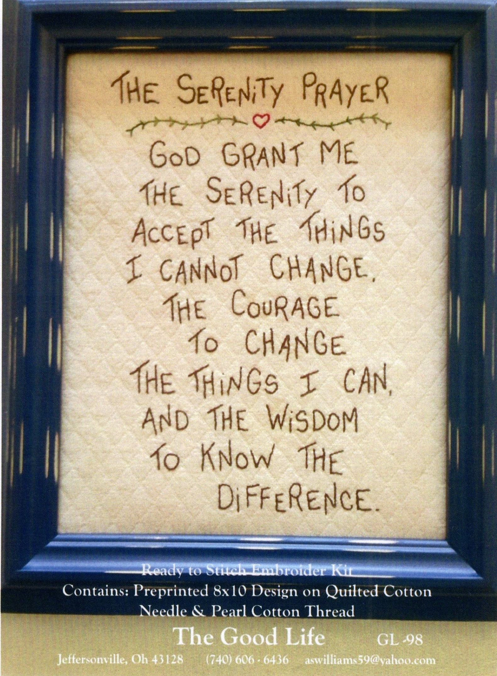 Serenity Prayer GL-98
