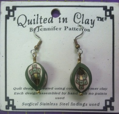 Quilted in Clay earrings