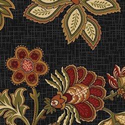 Black Floral Civil War Reproduction