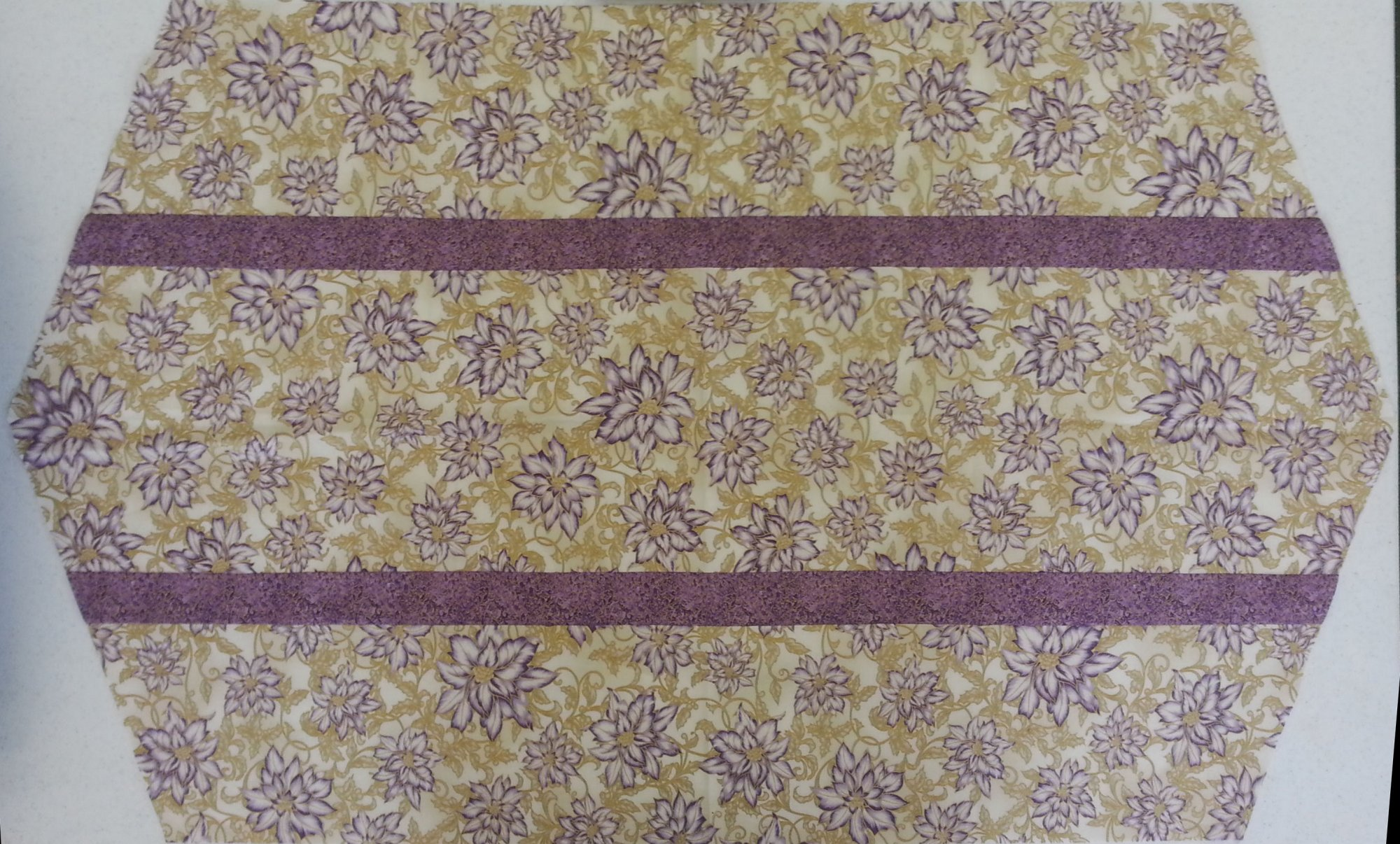 Table Runner - Purple and Yellow Floral Sample