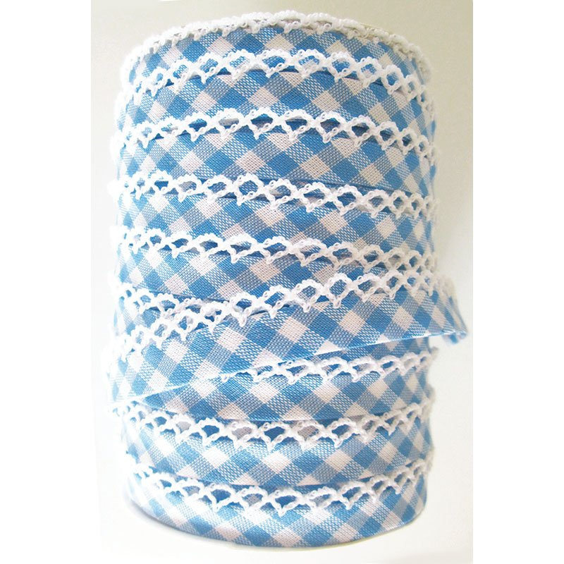 Crochet Edge DF Bias Check Dk Blue