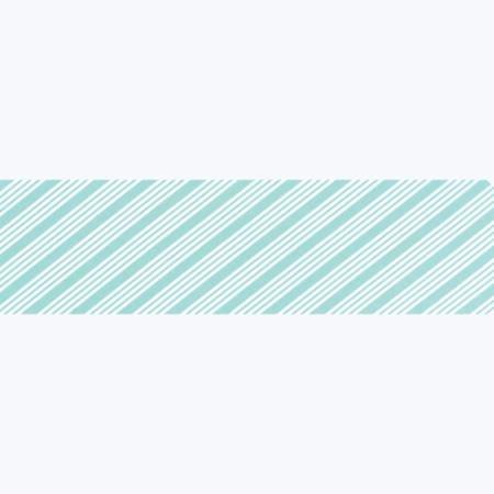 40yd The Good Life Bias Aqua Stripe