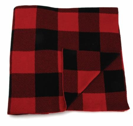 Overnight Delivery Red & Black Throw