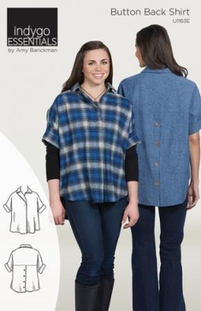 Button Back Shirt pattern Size: XS - 3X