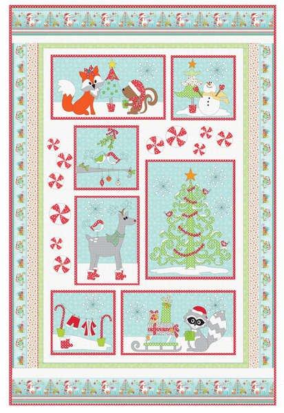 Frosty's Wonderland Quilt Kit 56 x 85