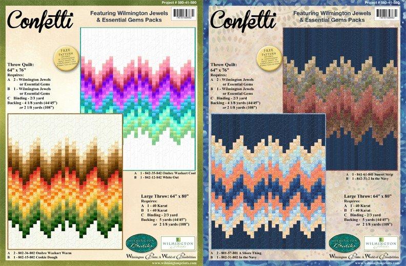 Confetti pattern 64 x 76