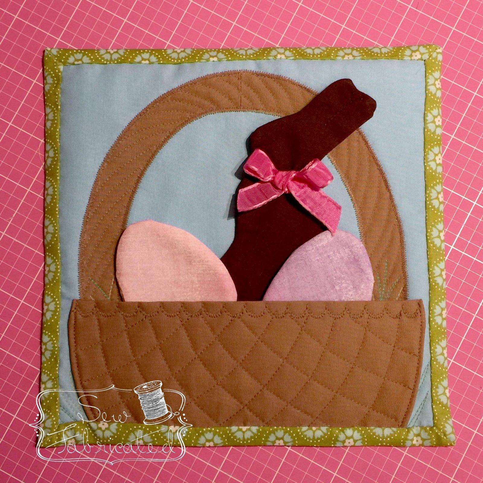 Mug Rug Kit Easter Basket Brown