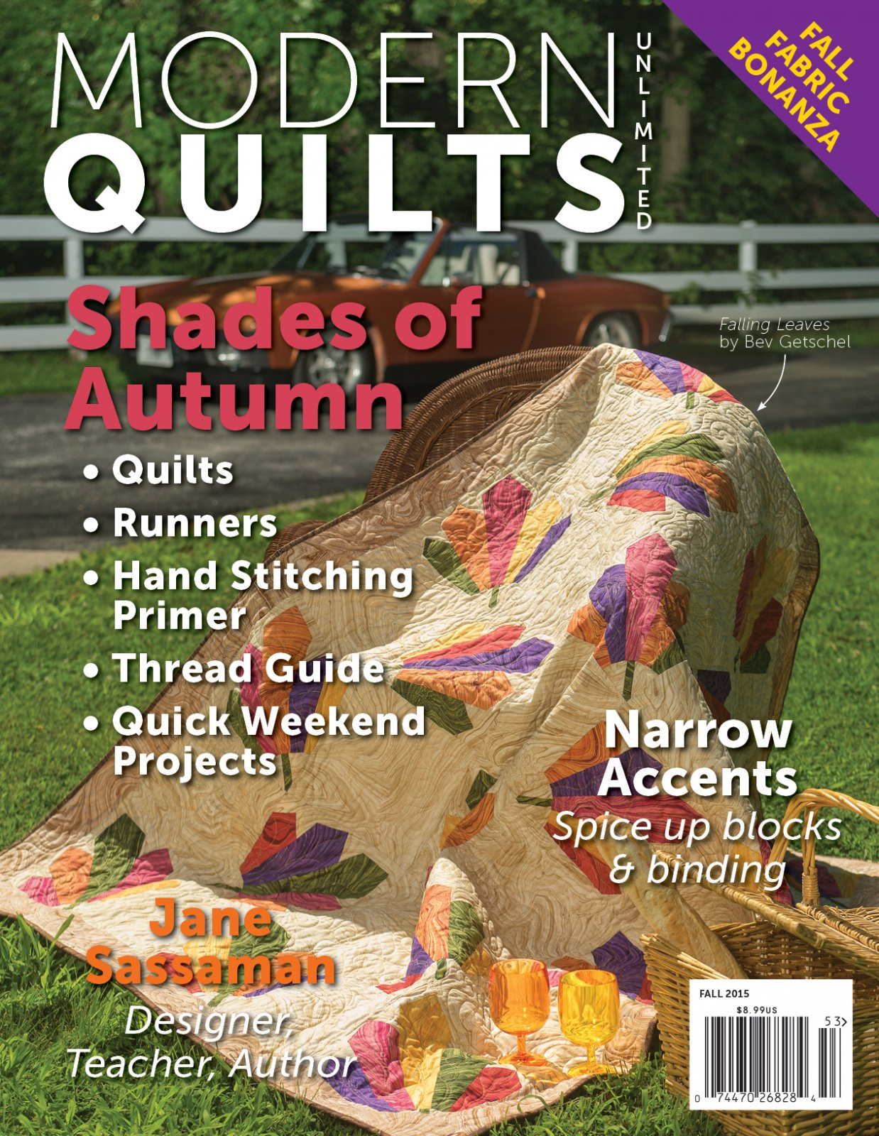 Modern Quilts Unlimited Fall 2015 Issue