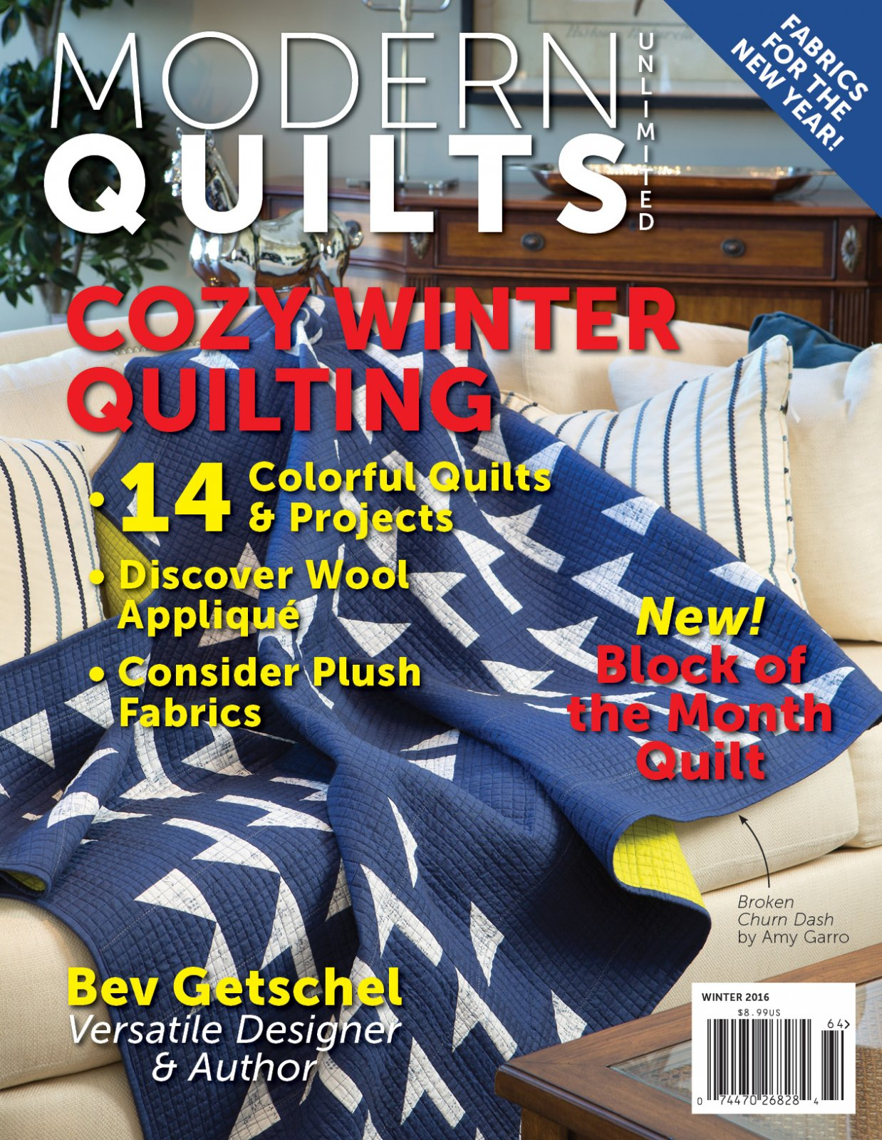 Modern Quilts Unlimited Winter 2016 Issue