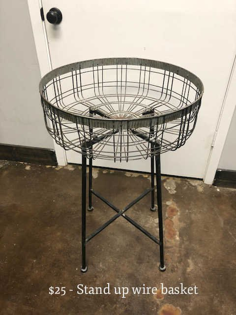 Stand Up Wire Basket