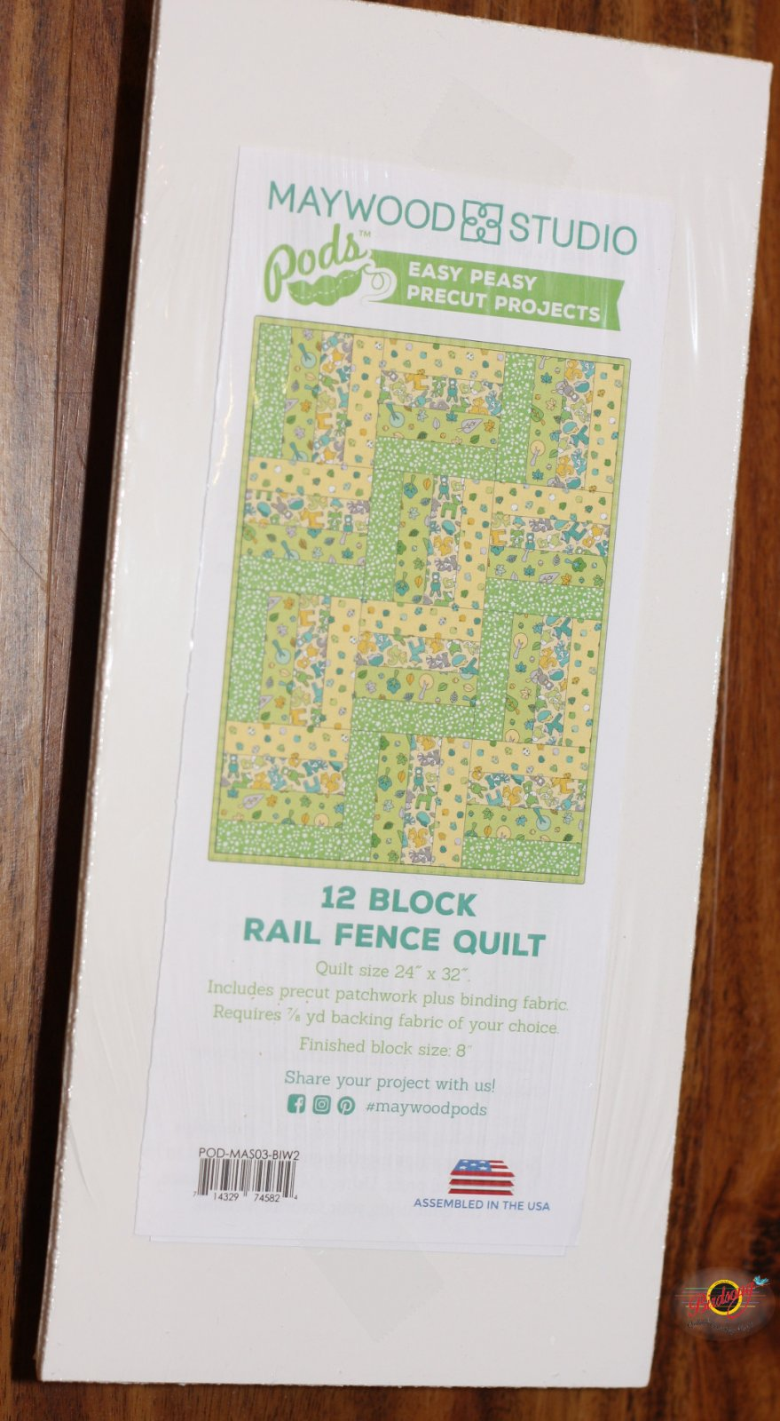 12 Block Rail Fence Quilt Pods