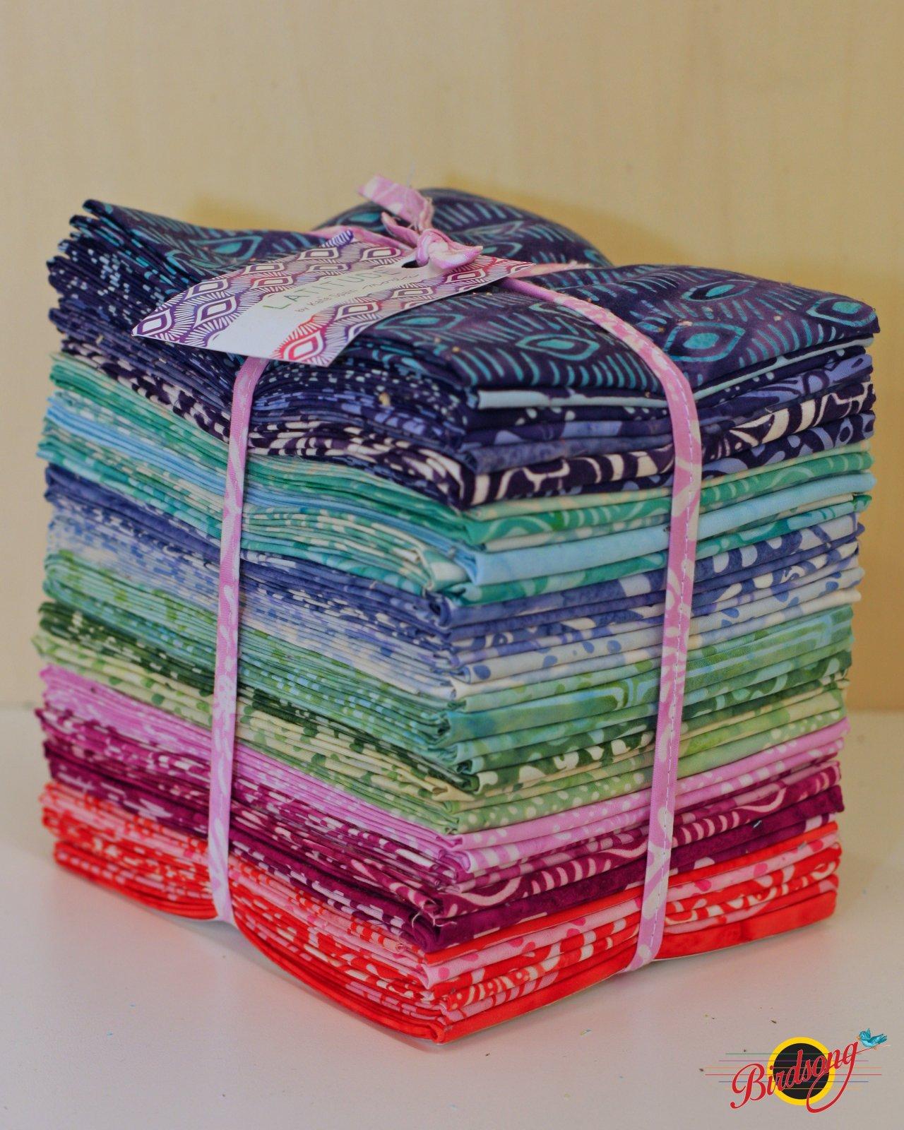 Latitude Batiks Fat Quarter Bundle (40 - 18 x 21 pieces)