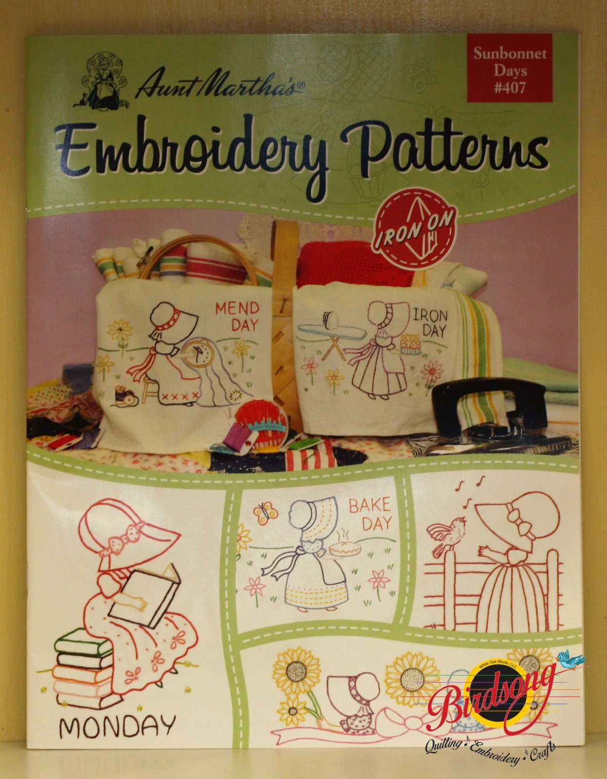 Sunbonnet Days #407 Iron On Embroidery Patterns