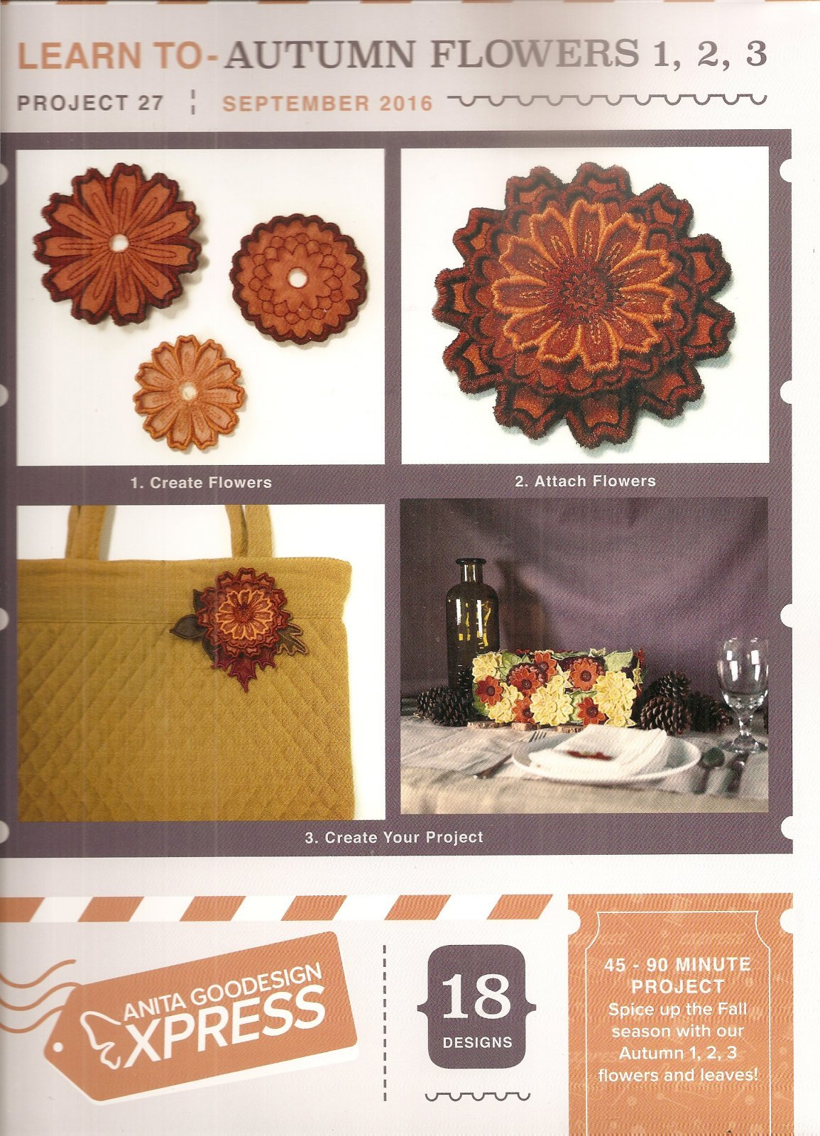 Embroidery Express Embroidery 123 Autumn Flowers 3d