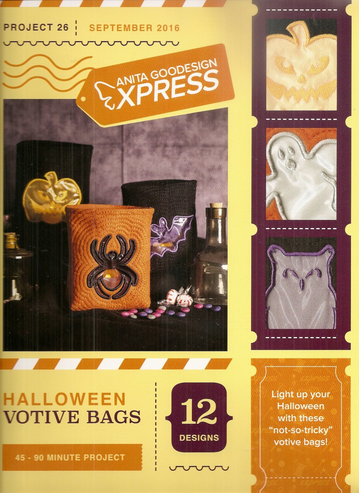 Embroidery Express Embroidery Halloween Votive Bag
