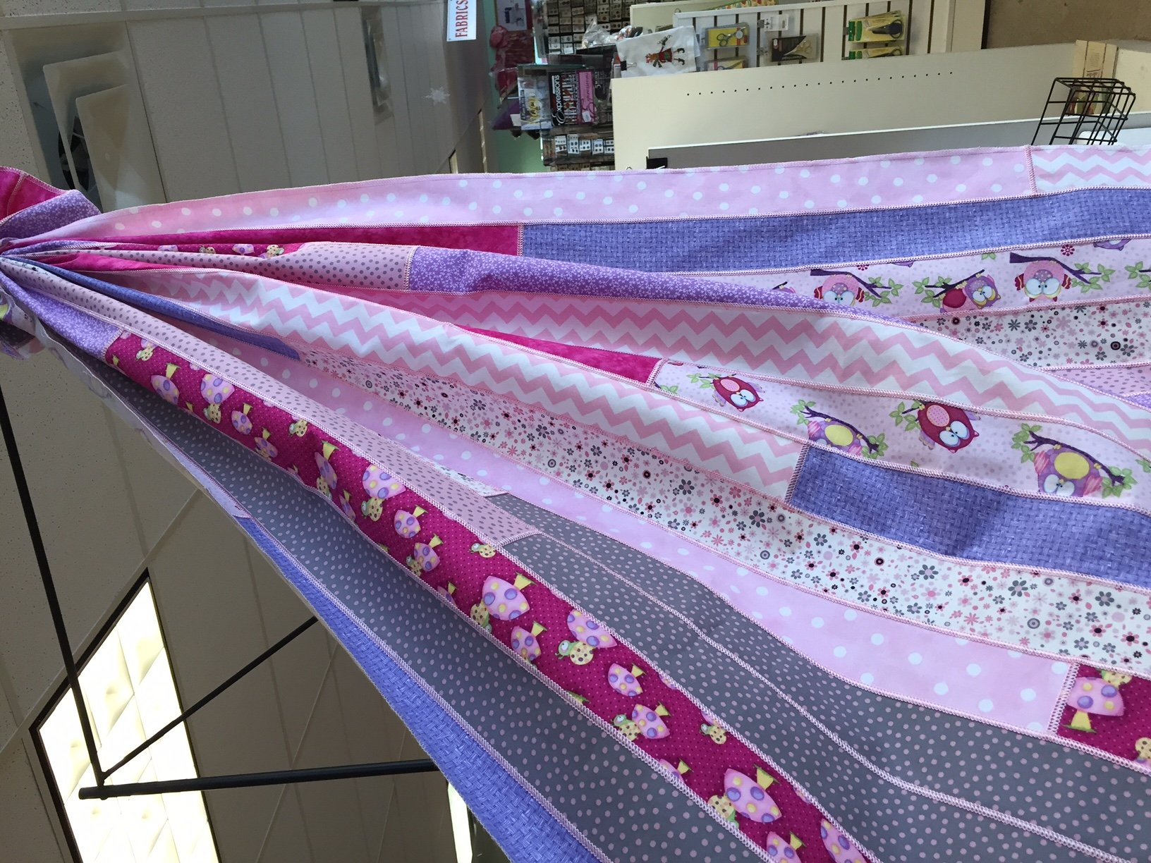 SERGER: Jelly Roll Serged Baby Quilt : quilting with a serger - Adamdwight.com