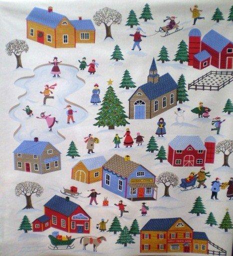 Christmas Village (Panel) 24050-1