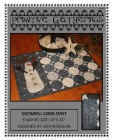 Snowball Candle Mat 368 by Primitive Gatherings