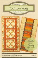 #5011 - November Table Runner - Cotton Way
