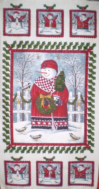 Holly Jolly Snowmen (Panel) 5970-11