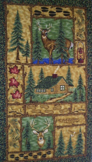 Tracking Whitetail Deer Flannel (Panel)