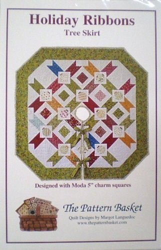 Holiday Ribbons Tree Skirt by The Pattern Basket