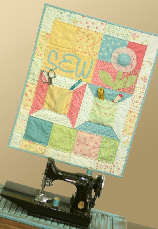 Sew Happy Wallhanging Kit by Sandy Gervais