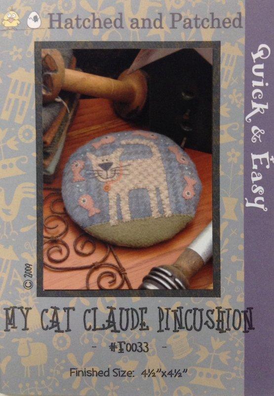 #F0033 My Cat Claude Pincushion