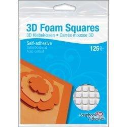 Pop Dots, 1/2 Square, Permanent Foam White, 126 pcs