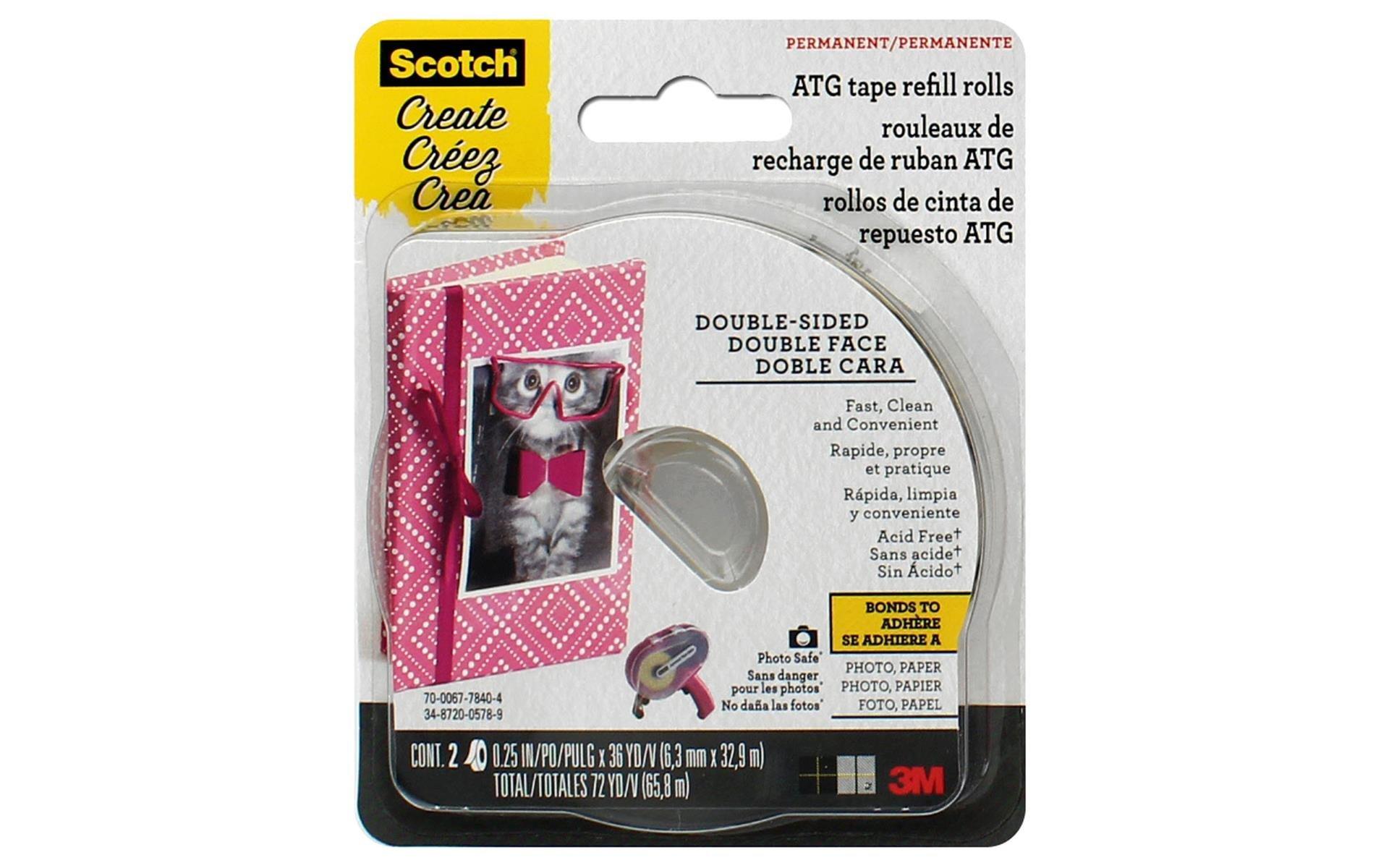 Scotch Advanced Tape Glider Refills - 1/4, 2 pk