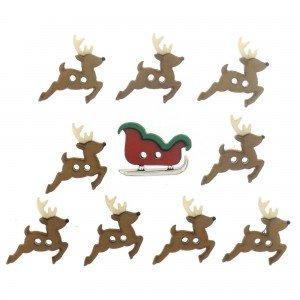 JJ Sew Cute Sleigh/Reindeer